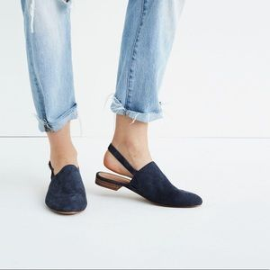 NWOT Madewell The Callie Suede Slipper Flat Mules